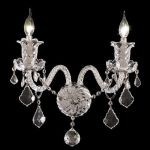 "Elizabeth Collection 2-Light 15"" Chrome Wall Sconce with Clear Elegant Cut Crystal 7830W2C/EC"