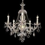 "Alexandria Collection 5-Light 25"" Chrome Chandelier with Clear  Swarovski Strass Crystal 7831D25C/SS"