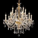 "Alexandria Collection 12-Light 28"" Gold Chandelier with Clear  Swarovski Strass Crystal 7831D28G/SS"