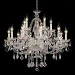 "Alexandria Collection 15-Light 35"" Chrome Chandelier with Clear Swarovski Spectra Crystal 7831G35C/SA"