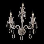 "Elizabeth Collection 3-Light 14"" Chrome Wall Sconce with Clear  Swarovski Strass Crystal 7832W3C/SS"