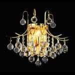 "Toureg Collection 3-Light 16"" Gold Wall Sconce with Clear  Swarovski Strass Crystal 8000W16G/SS"