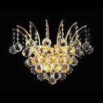 "Victoria Collection 3-Light 16"" Gold Wall Sconce with Clear  Swarovski Strass Crystal 8031W16G/SS"