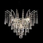 "Victoria Collection 3-Light 16"" Chrome Wall Sconce with Clear  Swarovski Strass Crystal 8032W16C/SS"