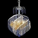 "Spiral Collection 3-Light 14"" Chrome Mini Chandelier with  Swarovski Strass Crystal 8053D14C/SS"