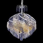"Spiral Collection 10-Light 22"" Chrome Chandelier with  Swarovski Strass Crystal 8053D22C/SS"