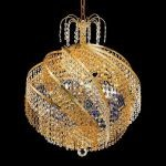 "Spiral Collection 10-Light 22"" Gold Chandelier with  Swarovski Strass Crystal 8053D22G/SS"