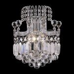 "Corona Collection 2-Light 12"" Chrome Wall Sconce with Clear Elegant Cut Crystal 8949W12C/EC"