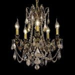 "Rosalia Collection 5-Light 18"" Antique Bronze Chandelier with Golden Teak Smoky Swarovski Strass Crystal 9205D18AB-GT/SS"