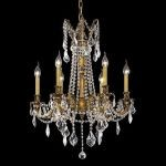 "Rosalia Collection 6-Light 23"" French Gold Chandelier with Clear Elegant Cut Crystal 9206D23FG/EC"