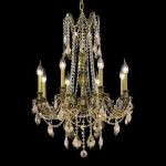 "Rosalia Collection 8-Light 24"" Antique Bronze Chandelier with Golden Teak Smoky Swarovski Strass Crystal 9208D24AB-GT/SS"