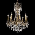 "Rosalia Collection 8-Light 24"" French Gold Chandelier with Clear Elegant Cut Crystal 9208D24FG/EC"