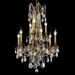 "Rosalia Collection 9-Light 23"" Antique Bronze Chandelier with Clear Elegant Cut Crystal 9209D23AB/EC"