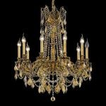 "Rosalia Collection 10-Light 28"" French Gold Chandelier with Golden Teak Smoky Swarovski Strass Crystal 9210D28FG-GT/SS"