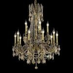 "Rosalia Collection 15-Light 28"" Antique Bronze Chandelier with Golden Teak Smoky Swarovski Strass Crystal 9215D28AB-GT/SS"