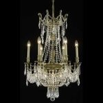 "Esperanza Collection 9-Light 22"" Antique Bronze Chandelier with Clear  Swarovski Strass Crystal 9309D22AB/SS"