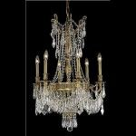 "Esperanza Collection 9-Light 22"" French Gold Chandelier with Clear  Swarovski Strass Crystal 9309D22FG/SS"