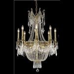 "Esperanza Collection 12-Light 26"" French Gold Chandelier with Clear  Swarovski Strass Crystal 9312D26FG/SS"