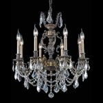"Marseille Collection 8-Light 24"" Antique Bronze Chandelier with Clear Elegant Cut Crystal 9508D24AB/EC"