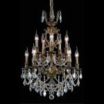 "Marseille Collection 10-Light 21"" Antique Bronze Chandelier with Clear Elegant Cut Crystal 9510D21AB/EC"
