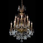 "Marseille Collection 10-Light 21"" French Gold Chandelier with Clear Elegant Cut Crystal 9510D21FG/EC"