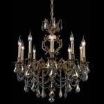 "Marseille Collection 10-Light 28"" French Gold Chandelier with Golden Teak Smoky Swarovski Strass Crystal 9510D28FG-GT/SS"