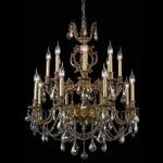 "Marseille Collection 16-Light 28"" French Gold Chandelier with Golden Teak Smoky Swarovski Strass Crystal 9516D28FG-GT/SS"
