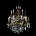 "Marseille Collection 20-Light 36"" French Gold Chandelier with Clear Elegant Cut Crystal 9520G36FG/EC"