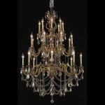 "Marseille Collection 24-Light 38"" French Gold Chandelier with Clear Elegant Cut Crystal 9524G38FG/EC"