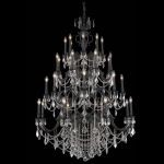 "Marseille Collection 32-Light 48"" Dark Bronze Chandelier with Golden Shadow Champagne Swarovski Strass Crystal 9532G48DB-GS/SS"
