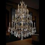 "Marseille Collection 32-Light 48"" French Gold Chandelier with Clear Elegant Cut Crystal 9532G48FG/EC"