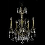 "Monarch Collection 5-Light 21"" Antique Bronze Chandelier with Golden Shadow Champagne Swarovski Strass Crystal 9605D21AB-GS/SS"