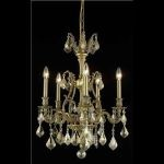 "Monarch Collection 5-Light 21"" French Gold Chandelier with Golden Teak Smoky Swarovski Strass Crystal 9605D21FG-GT/SS"