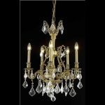"Monarch Collection 5-Light 21"" French Gold Chandelier with Clear Elegant Cut Crystal 9605D21FG/EC"