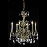 "Monarch Collection 6-Light 24"" Antique Bronze Chandelier with Clear  Swarovski Strass Crystal 9606D24AB/SS"