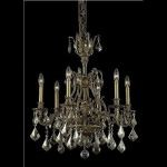 "Monarch Collection 6-Light 24"" French Gold Chandelier with Golden Teak Smoky Swarovski Strass Crystal 9606D24FG-GT/SS"