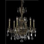 "Monarch Collection 6-Light 24"" French Gold Chandelier with Clear Elegant Cut Crystal 9606D24FG/EC"