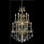 "Monarch Collection 10-Light 26"" French Gold Chandelier with Clear Elegant Cut Crystal 9610D26FG/EC"