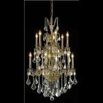 "Monarch Collection 12-Light 27"" French Gold Chandelier with Clear Elegant Cut Crystal 9612D27FG/EC"