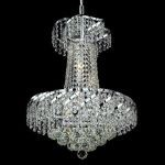 "Belenus Collection 6-Light 18"" Chrome Chandelier with Clear  Swarovski Strass Crystal ECA1D18C/SS"