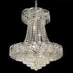 "Belenus Collection 11-Light 22"" Chrome Chandelier with Clear  Swarovski Strass Crystal ECA1D22C/SS"