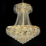 "Belenus Collection 11-Light 22"" Gold Chandelier with Clear  Swarovski Strass Crystal ECA1D22G/SS"