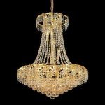 "Belenus Collection 15-Light 26"" Gold Chandelier with Clear  Swarovski Strass Crystal ECA1D26G/SS"