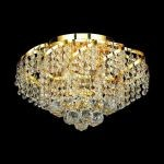 "Belenus Collection 6-Light 16"" Gold Semi Flush Mount with Clear Elegant Cut Crystal ECA1F16G/EC"