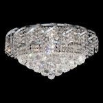 "Belenus Collection 8-Light 20"" Chrome Flush Mount with Clear  Swarovski Strass Crystal ECA1F20C/SS"