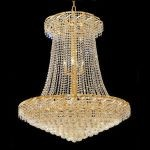 "Belenus Collection 22-Light 36"" Gold Chandelier with Clear  Swarovski Strass Crystal ECA1G36SG/SS"