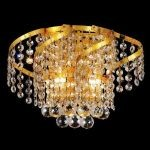 "Belenus Collection 2-Light 12"" Gold Wall Sconce with Clear  Swarovski Strass Crystal ECA1W12G/SS"