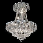 "Belenus Collection 11-Light 22"" Chrome Chandelier with Clear  Swarovski Strass Crystal ECA2D22C/SS"
