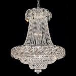 "Belenus Collection 18-Light 30"" Chrome Chandelier with Clear  Swarovski Strass Crystal ECA2D30C/SS"