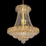 "Belenus Collection 18-Light 30"" Gold Chandelier with Clear  Swarovski Strass Crystal ECA2D30G/SS"